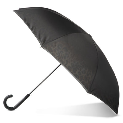 InBrella Reverse Close Umbrella in Honey Leopard Open Side Profile