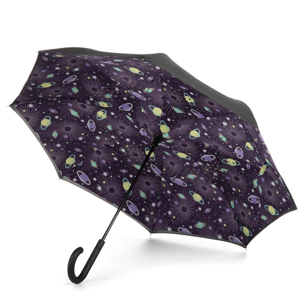 InBrella Reverse Close Umbrella in Galaxy Open Under Canopy