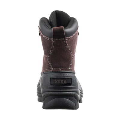 Men's Glacier Lace Winter Boot in Brown Back