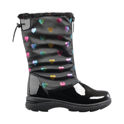 Girl's Anna Winter Boot in Black Profile