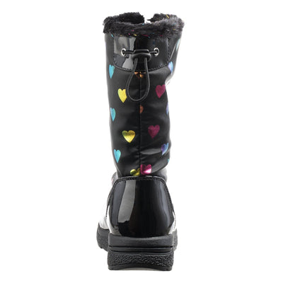 Girl's Anna Winter Boot in Black Back