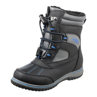 Boy's Elfin Winter Boot in Black Side Profile