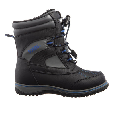 Boy's Elfin Winter Boot in Black Profile