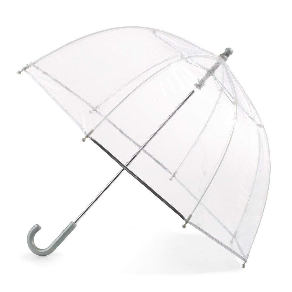 Kid's Clear Bubble Umbrella in Clear Open Side Profile