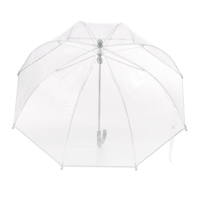 Kid's Clear Bubble Umbrella in Clear Open Top View