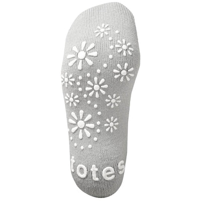 Women's Toasties Slipper Socks in Grey Bottom Treads
