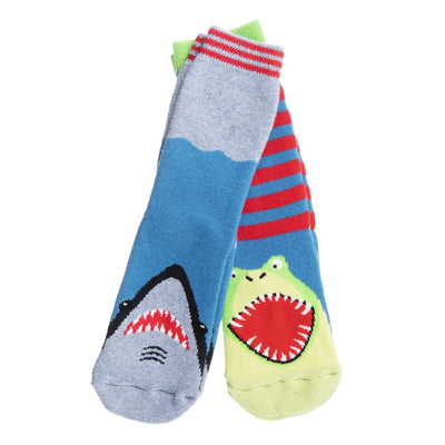 Kid's 2-Pack Novelty Toastie™ Slipper Socks in Sharkskin
