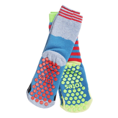Kid's 2-Pack Novelty Toastie™ Slipper Socks in Skarkskin Bottom Tread