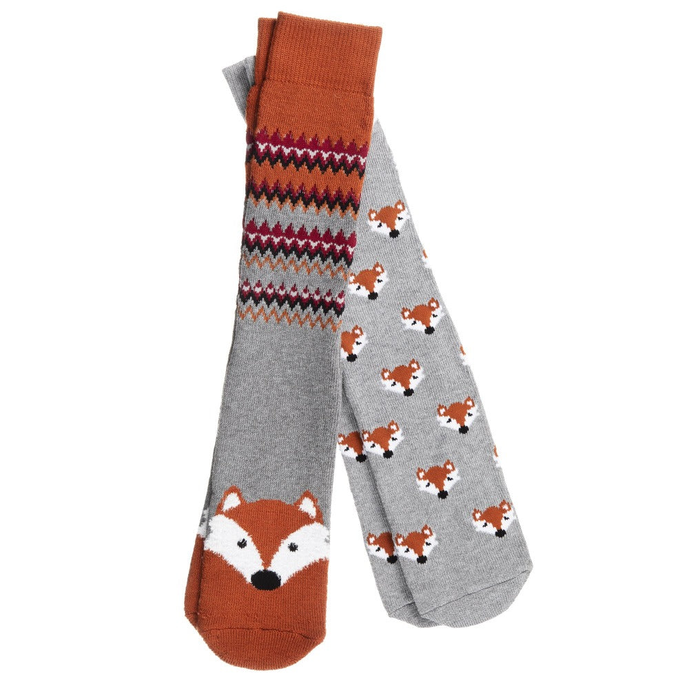 Men's 2-Pack Winter Toastie™ Slipper Socks in Fox