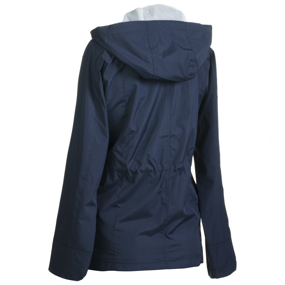 Anorak Coat in Navy Back View