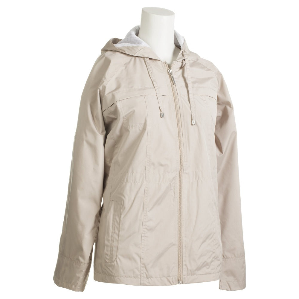 Anorak Coat in Sand Side Profile