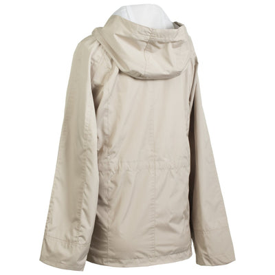 Anorak Coat in Sand Back View