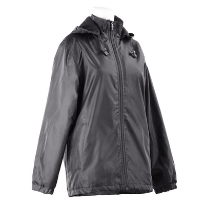 Women's Three Season Short-length Storm Jacket in Black Right Angled View