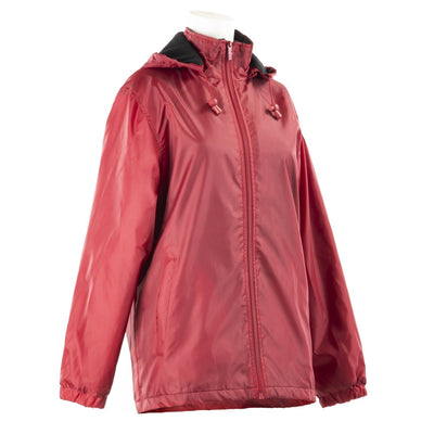 Women's Three Season Short-length Storm Jacket in Merlot Right Angled View