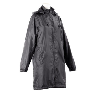 Women's Three Season Mid-length Storm Jacket in Black Right Angled View