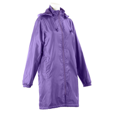 Women's Three Season Mid-length Storm Jacket in Plum Right Angled View