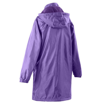 Women's Three Season Mid-length Storm Jacket in Plum Back