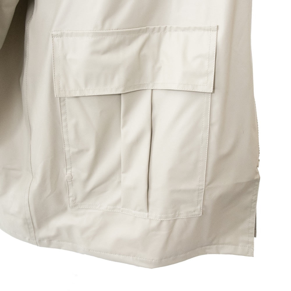 Lined Rain Slicker in Khaki Close Up on Pocket