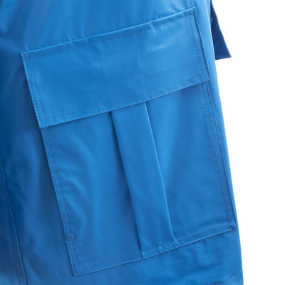Lined Rain Slicker in Marine Pocket Close Up