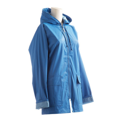 Lined Rain Slicker in Marine Side Profile