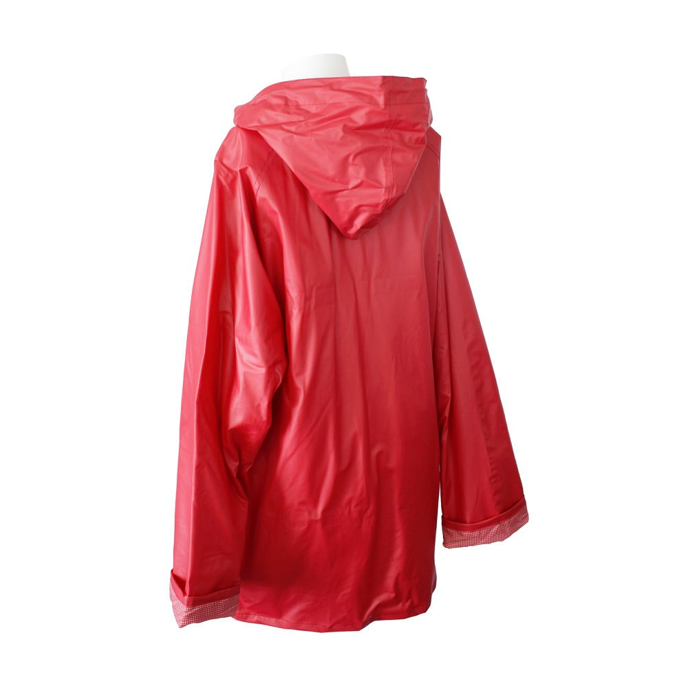 Lined Rain Slicker in Red Back