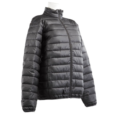 Totes Men's Packable Puffer Jacket in Black Right Angled View