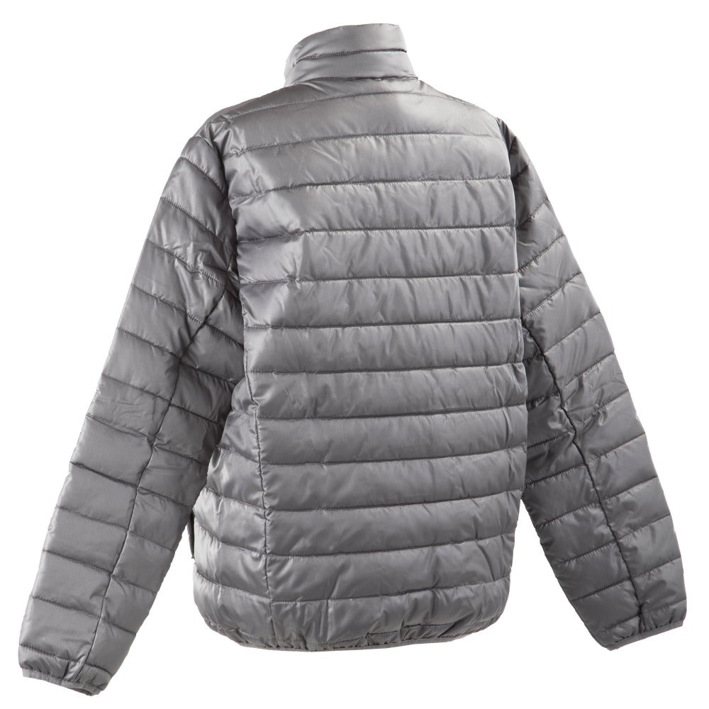 Men's Packable Puffer Jacket in Grey Back