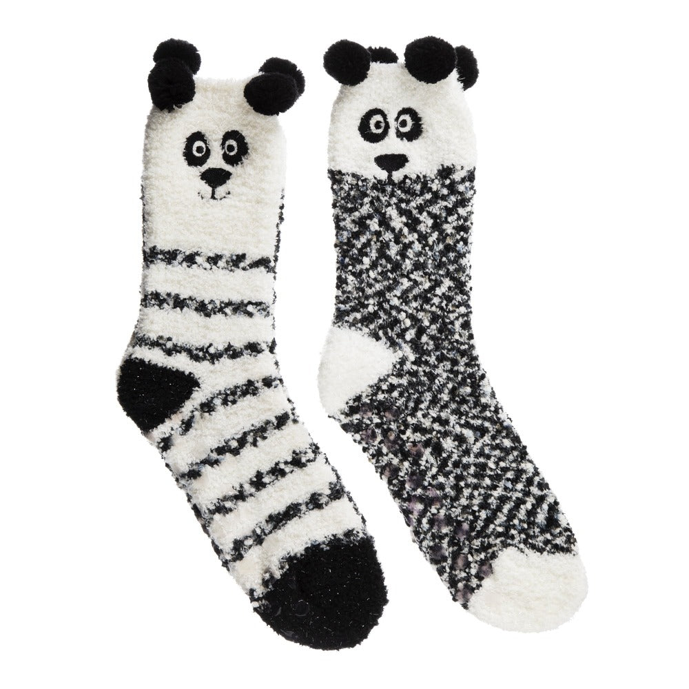 Women's 2-Pack Supersoft Novelty Toastie™ Slipper Socks in Panda