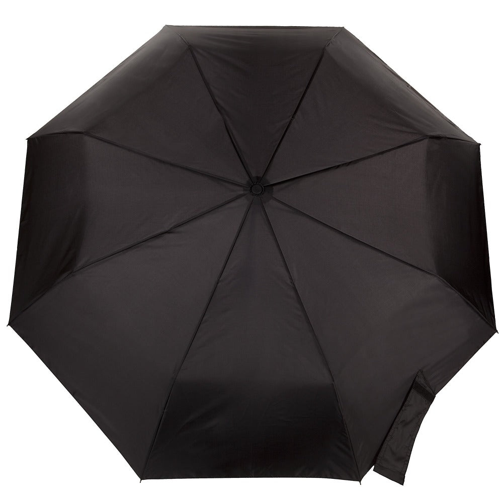 Sport Auto Open/Close Umbrella in Black Open Top View