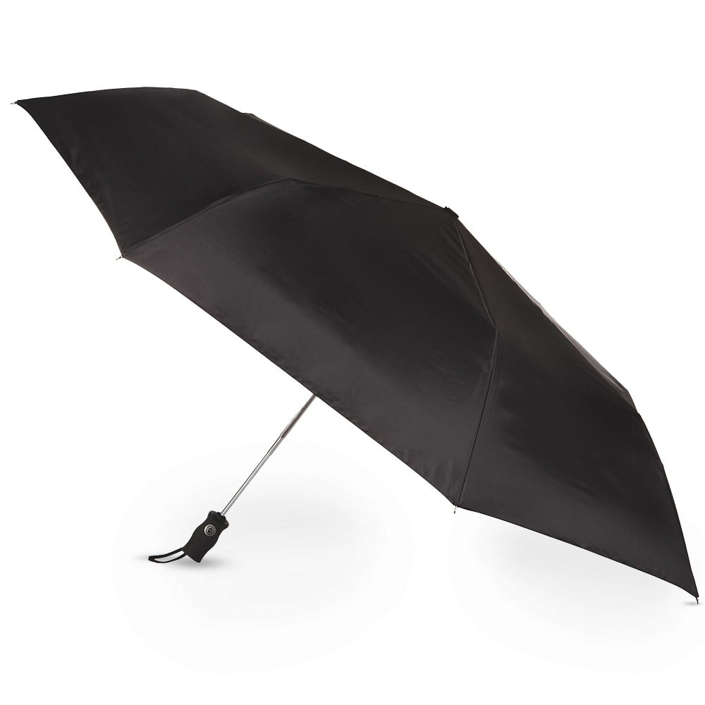 Sport Golf Size Auto Open/Close Folding Umbrella in Black Open Side Profile