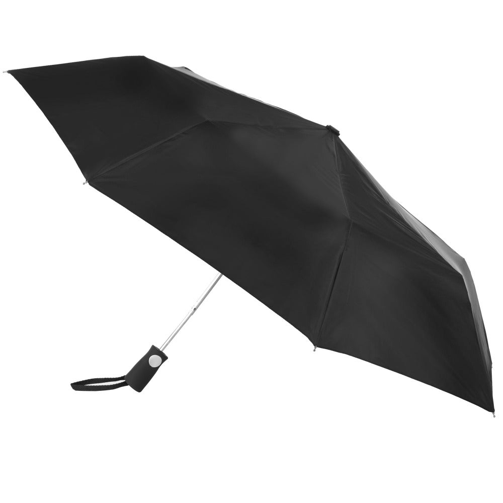 Sport Auto Open Umbrella in Black Open Side Profile