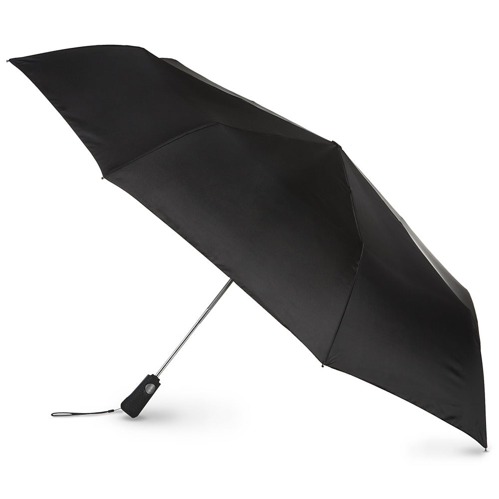 Blue Line Golf Size Auto Open/Close Umbrella in Black Open Side Profile