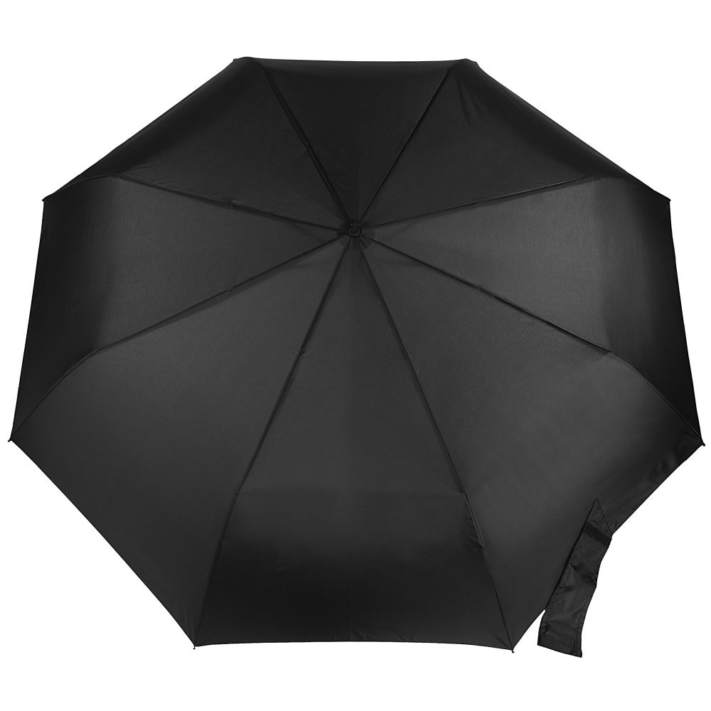 Blue Line Golf Size Auto Open/Close Umbrella in Black Open Top View