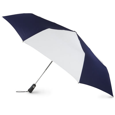 Blue Line Golf Size Auto Open/Close Umbrella in Navy/White Open Side Profile