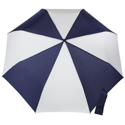 Blue Line Golf Size Auto Open/Close Umbrella in Navy/White Open Top View