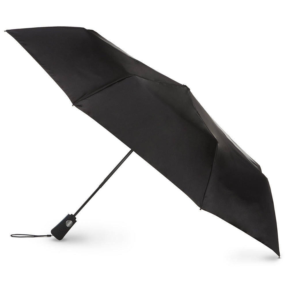 Blue Line Auto Open/Close Umbrella in Black Open Side Profile