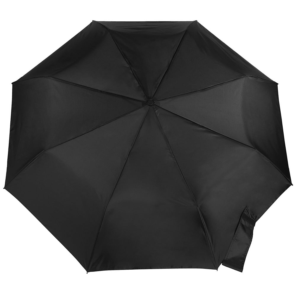 Blue Line Auto Open/Close Umbrella in Black Open Top View
