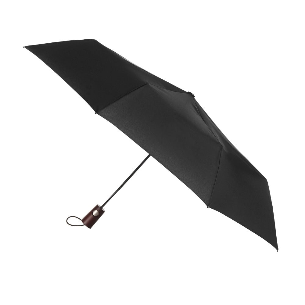 Blue Line Auto Open Large Umbrella NeverWet in Black Open Side Profile
