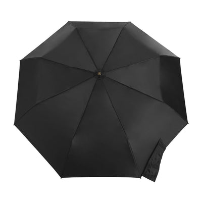 Titan Super Strong Large Folding Umbrella in Black Open Top View