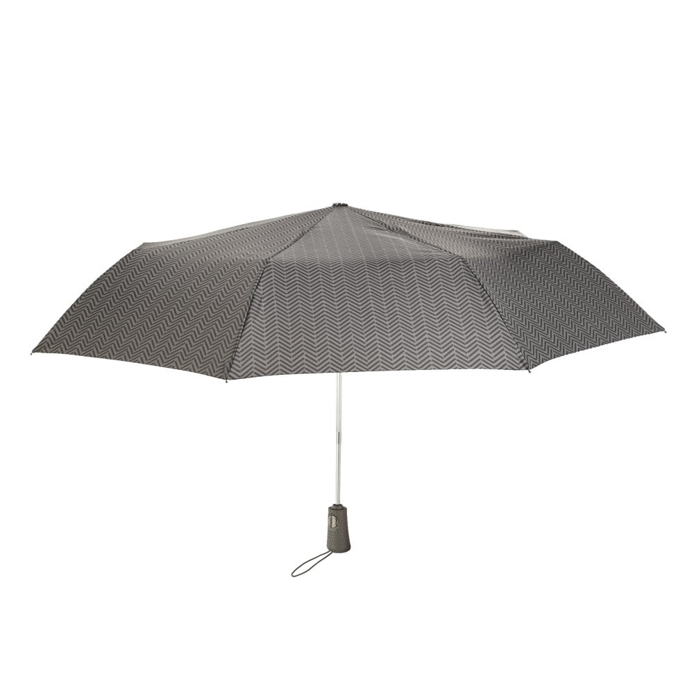 Titan Super Strong Large Folding Umbrella in Tread Open Straight On View
