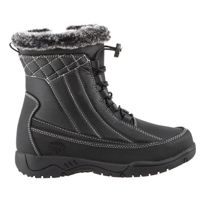 Women's Eve Winter Boots in Black Profile