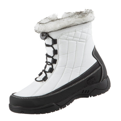 Women's Eve Winter Boots in White Left Angled View