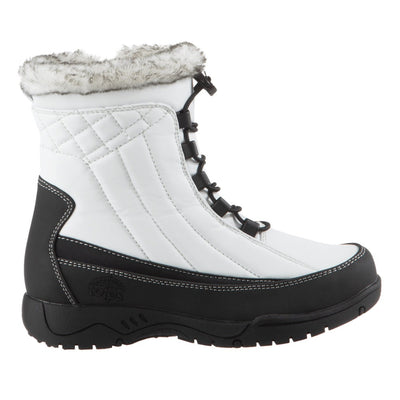 Women's Eve Winter Boots in White Profile