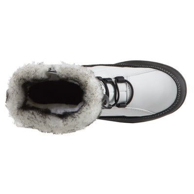 Women's Eve Winter Boots in White Inside Top View