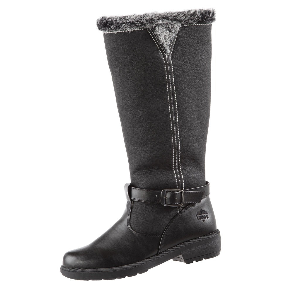 Women's Maryliza Tall Winter Boots in Black Left Angled View
