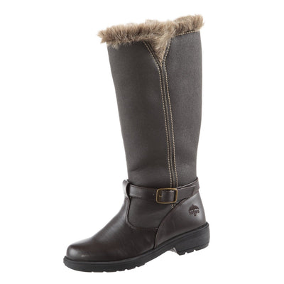 Women's Maryliza Tall Winter Boots in Brown Left Angled View