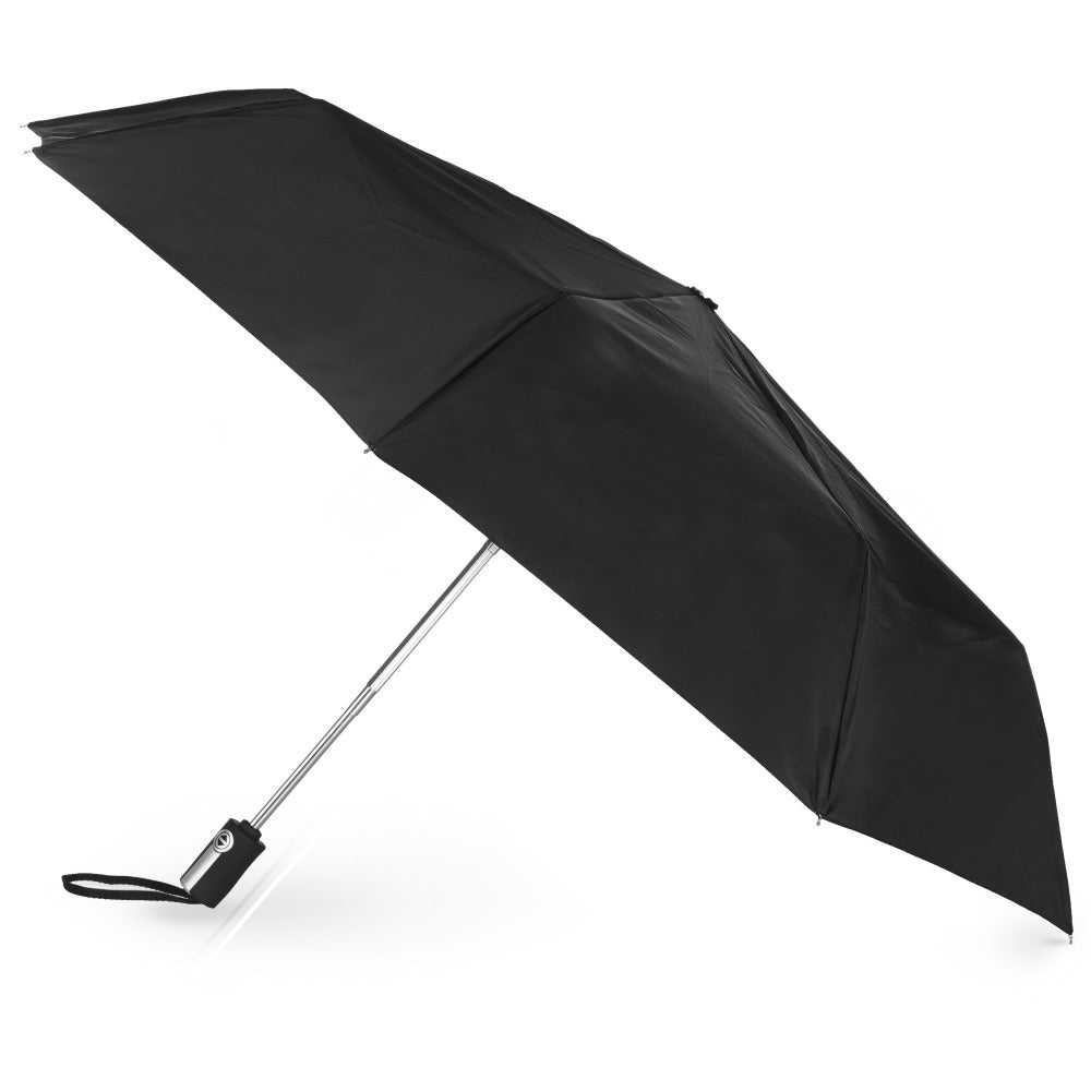 Auto Open Close Umbrella in Black Open Side Profile