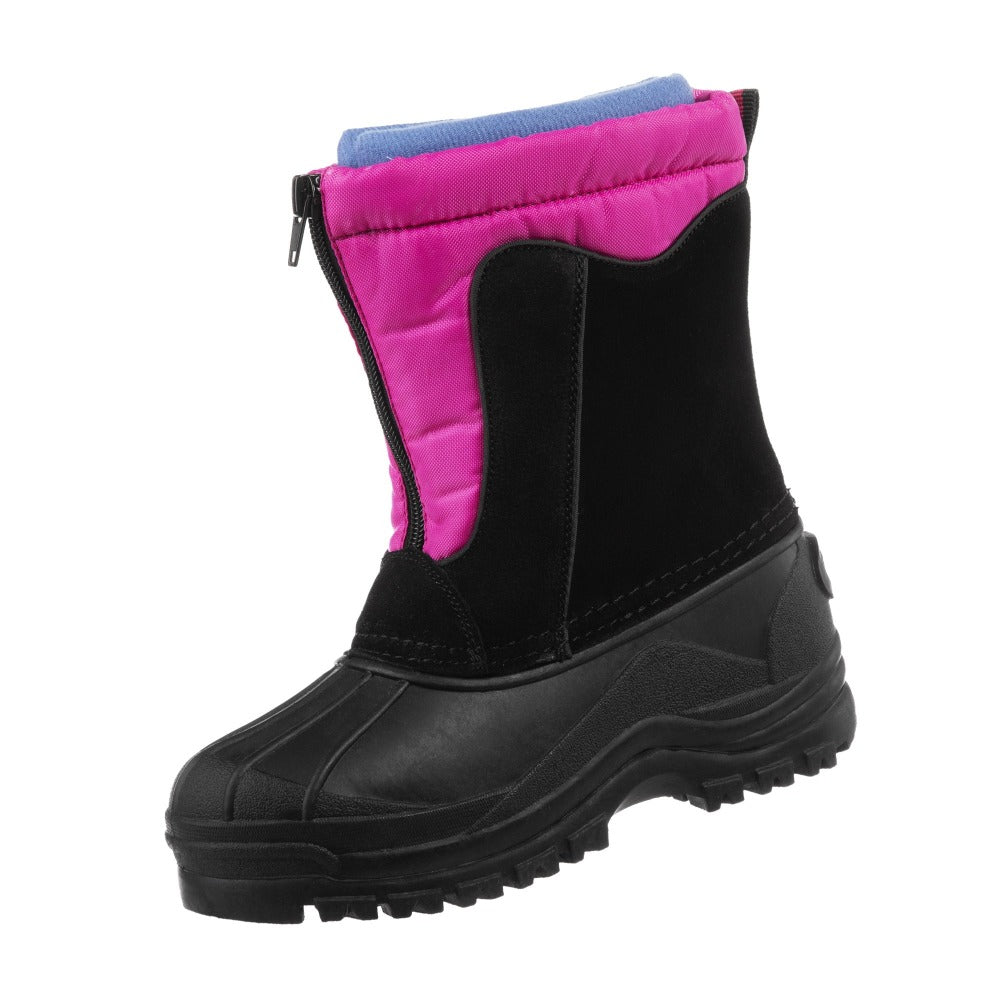 Girl's Nora Winter Boots in Black Left Angled View