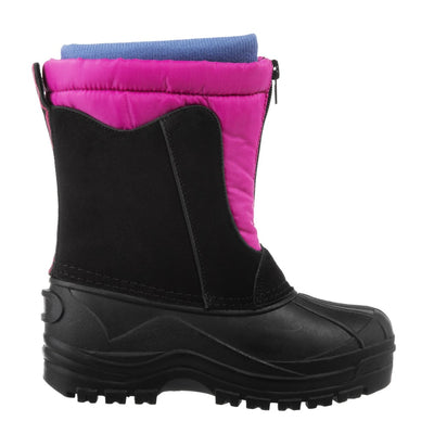 Girl's Nora Winter Boots in Black Profile