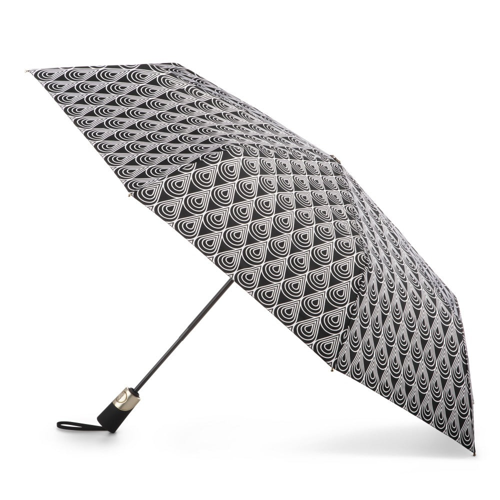 50th Anniversary Auto Open Close Umbrella in Raindrop Status Open Side Profile